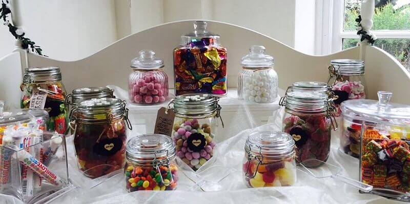 retro sweets wedding feature