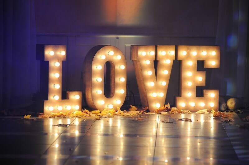 LED wedding letters Wales