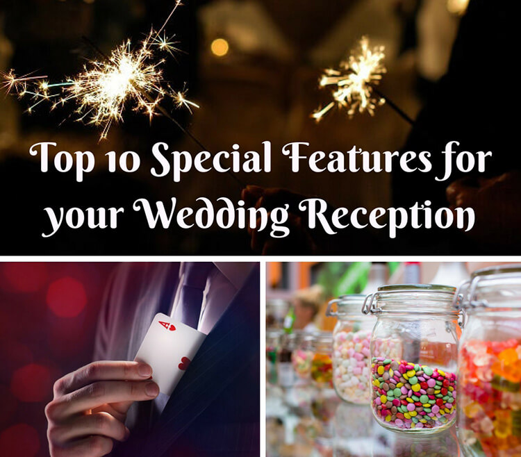 Top 10 Wedding Add Ons Special Features Reception Ideas